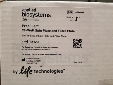Applied Biosystems PrepFiler 96-Well Spin Plates and Filter Plates #4476031 - 1