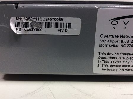 Overture Networks - 5282-900 ISG 45+ Ethernet Switch