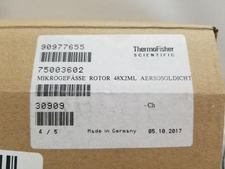 Thermo 75003602 Microliter 48 x 2mL Sealed Aluminum Fixed Angle Rotor NEW in BOX - 2