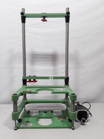Chemglass Life Science Reactor Support Stand W/ Overhead Stirring Motor