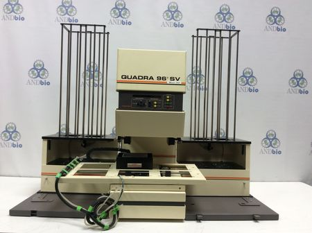 Tomtec Quadra 96 SV 196-345 w/Quadra Stacker 420 series pipette workstation