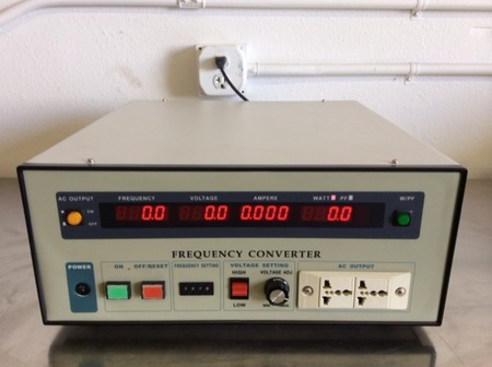 Georator Corporation - 1 Phase output Frequency Converter T2FC-11-500W