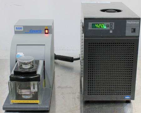 Covaris S220 Focused-Ultrasonicator with PolyScience MM7 Chiller